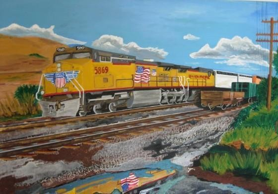 Union Pacific train 50x70 (maggio 2011) - WOODNS