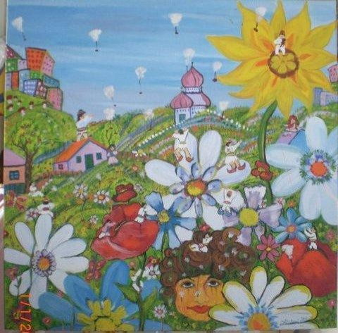WONDERFUL WORLD 100X100 -2010 - WOODNS