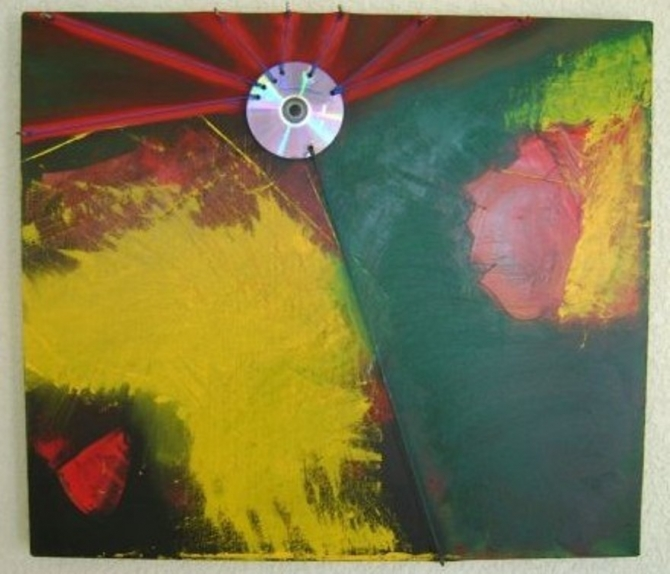 Año cero. 80 x 60 cms. Abstracto. - WOODNS