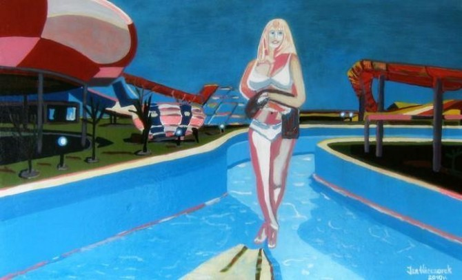 Wenus in Aquapark 2010 /Acrylate 120cm X 75 cm - WOODNS
