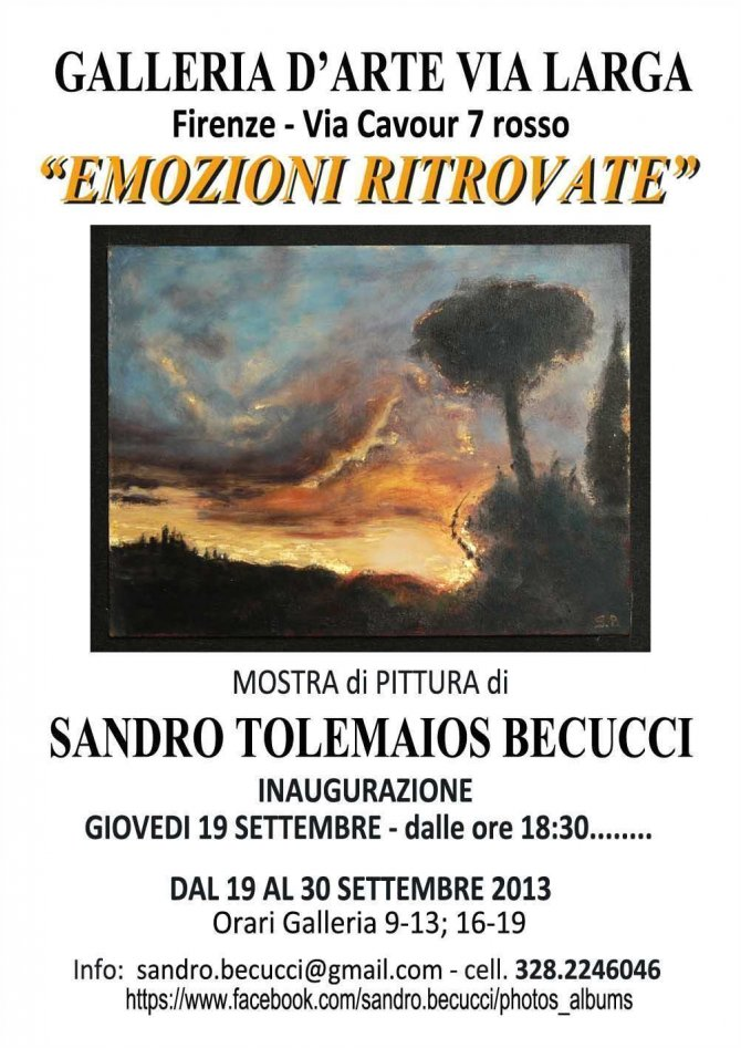 Sandro Tolemaios Becucci, EMOZIONI RITROVATE ,Florence September 2013 - WOODNS