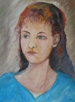 Portrait of his girlfriend Graziella - WOODNS