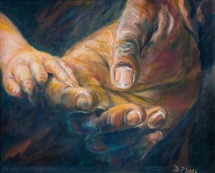 Study of hands-40x50 Oil on canvas - WOODNS