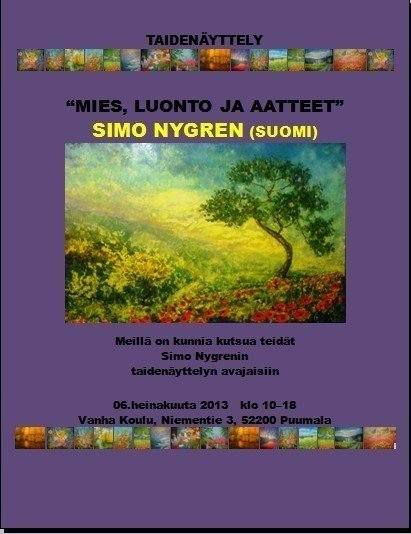 """THE MAN, NATURE AND IDEAS"" SIMO Nygren (FINLAND) - WOODNS"