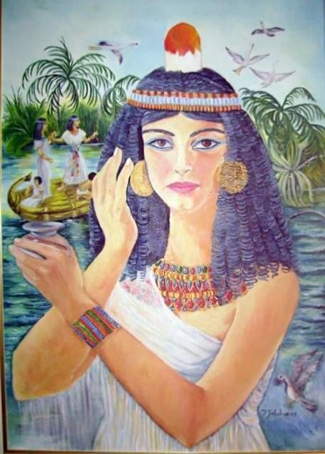 Cleopatra oil on canvas 50x60 2005 - WOODNS