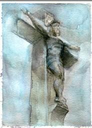 CROSS,2011- watercolor 30,5x23 cm - WOODNS