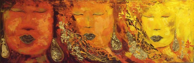 Energy (10 X 30) (buddha profile) - WOODNS