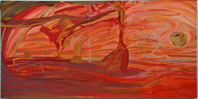 Sunset Acrylic 60x120 canvas - WOODNS